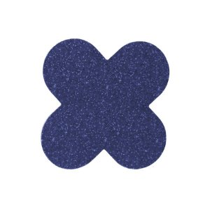 Forminha para doces 4 Pétalas Glitter Azul - 50 unidades -  NC Toys - Rizzo Embalagens