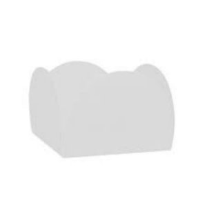Forminhas para Doces 4 Pétalas Branca - 100 unidades - NC Toys - Rizzo Embalagens