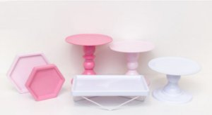 Kit Comemore MAIS - 19 Rosa, Rosa Candy e Branco - 01 Unidade - Só Boleiras - Rizzo Festas