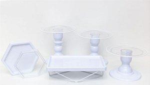 Kit Comemore MAIS Clean - 27 Branco - 01 Unidade - Só Boleiras - Rizzo Festas