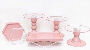 Kit Comemore MAIS Clean - 28 Rose - 01 Unidade - Só Boleiras - Rizzo Festas
