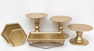 Kit Comemore MAIS Premium - 31 Dourado - 01 Unidade - Só Boleiras - Rizzo Festas