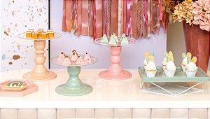 Kit Comemore MAIS Clean - 35 Colors Verde Menta, Nude e Rosê - 01 Unidade - Só Boleiras - Rizzo Festas