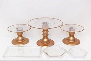 Kit Comemore Clean - 17 Rosê Gold - 01 Unidade - Só Boleiras - Rizzo Festas