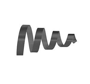 Rolo Fita Lisa Preto - 15mm x 50m - EmFesta - Rizzo Embalagens