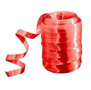 Rolo Fitilho Vermelho Claro - 5mm x 50m - EmFesta - Rizzo Embalagens