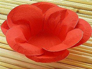 Forminha para Doces Floral Leka  Colorset Vermelho - 40 unidades - Decorart - Rizzo Embalagens