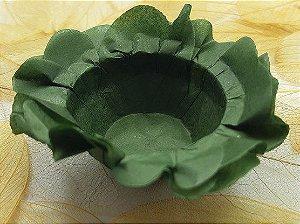 Forminha para Doces Floral em Seda Verde Musgo MIlitar - 40 unidades - Decorart - Rizzo Embalagens