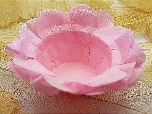 Forminha para Doces Floral em Seda Rosa Claro - 40 unidades - Decorart - Rizzo Embalagens
