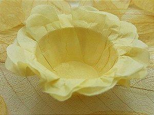 Forminha para Doces Floral em Seda Marfim - 40 unidades - Decorart - Rizzo Embalagens