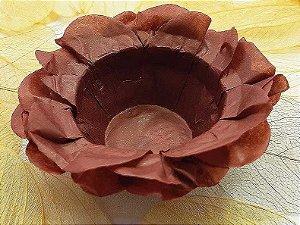 Forminha para Doces Floral em Seda Marrom - 40 unidades - Decorart - Rizzo Embalagens