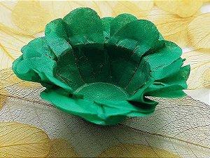 Forminha para Doces Floral em Seda Verde Escuro - 40 unidades - Decorart - Rizzo Embalagens