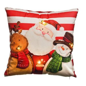 Almofada Noel com Led 35cm - 01 unidade - Cromus Natal - Rizzo Embalagens