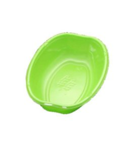 Cumbuca Oval Descartável 10cm Verde - 10 unidades Trik Trik - Rizzo Embalagens