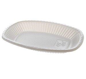 Travessa Pequena Descartável 10cm Branca - 10 unidades - Trik Trik - Rizzo Embalagens
