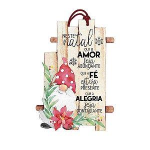 Decor Home Tag Natal - Neste Natal- DHTN-024 - LitoArte - Rizzo Embalagens