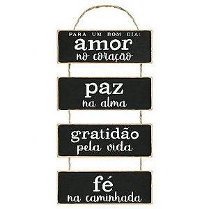 Placa Decorativa em MDF - Para um Bom Dia - DHPM6-034 - LitoArte - Rizzo Embalagens
