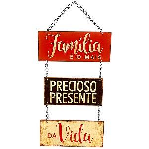 Placa Decorativa em MDF - Família - DHPM5-243 - LitoArte Rizzo Embalagens