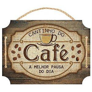 Placa Decorativa em MDF - Cantinho do Café - DHPM5-370 - LitoArte - Rizzo Embalagens