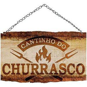 Placa Decorativa em MDF - Cantinho do Churrasco - DHPM5-369 - LitoArte Rizzo Embalagens