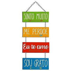 Placa Decorativa em MDF - Sinto Muito, Me Perdoe... - DHPM5-279 - LitoArte - Rizzo Embalagens