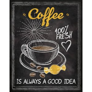Placa Decorativa em MDF - Coffee - DHPM-183 - LitoArte Rizzo Embalagens