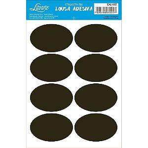 Etiqueta Lousa Adesiva em Vinil - Liso Oval - EAL-002 - LitoArte - Rizzo Embalagens