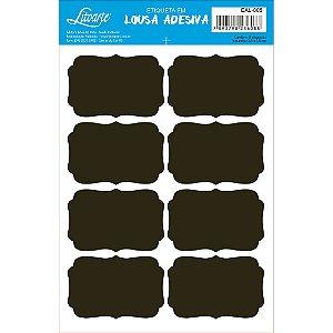 Etiqueta Lousa Adesiva em Vinil - Liso P - EAL-005 - LitoArte - Rizzo Embalagens