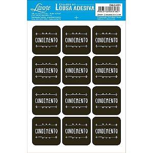 Etiqueta Lousa Adesiva em Vinil - Condimento - EAL2-001 - LitoArte Rizzo Embalagens