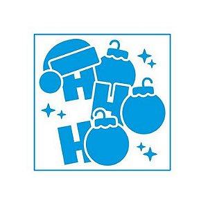 Stencil Natal HoHoHo Enfeite - STAN-007 - LitoArte Rizzo Embalagens
