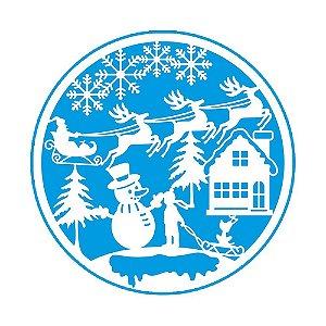 Stencil Natal boneco de neve - STAN-012 - LitoArte - Rizzo Embalagens