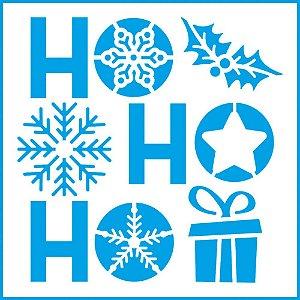 Stencil Natal HoHoHo - STNX-039 - LitoArte - Rizzo Embalagens