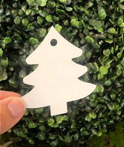 Tag Árvore de Natal Branca - 10 unidade - Rizzo Embalagens