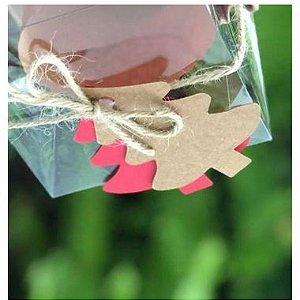 Tag Árvore de Natal Vermelha - 10 unidades - Rizzo Embalagens