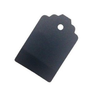 Tag Preto com Furo - 10 unidades - Rizzo Embalagens