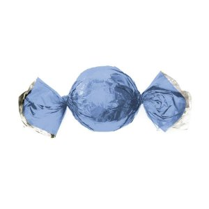 Papel Trufa 14,5x15,5cm - Metalizado Azul Claro - 100 unidades - Cromus - Rizzo Embalagens