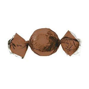 Papel Trufa 14,5x15,5cm - Metalizado Castanho - 100 unidades - Cromus - Rizzo Embalagens