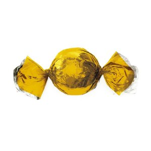 Papel Trufa 14,5x15,5cm - Metalizado Ouro - 100 unidades - Cromus - Rizzo Embalagens