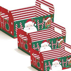 Caixote de Papel Amigos Natal - Cromus - Rizzo Embalagens e Festas