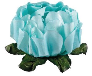 Forminha para Doces Finos - Rosa Maior Verde Tiffany - 40 unidades - Decora Doces - Rizzo Festas
