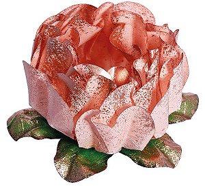 Forminha para Doces Finos - Rosa Maior Rosê Gold - 40 unidades - Decora Doces - Rizzo Festas