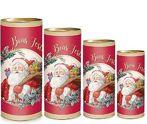 Lata para Presente - Papai Noel - 01 unidade - Cromus Natal - Rizzo Embalagens