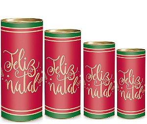 Lata para Presente - Feliz Natal - 01 unidade - Cromus Natal - Rizzo Embalagens