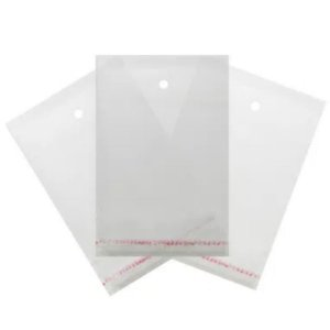 Saco Adesivado com furo - 8 x 25 cm - Rizzo
