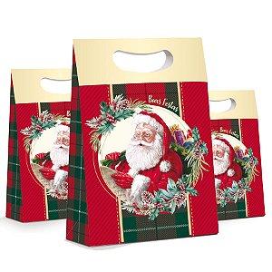 Caixa Plus Noel Boas Festas - 10 unidades - Cromus Natal - Rizzo Embalagens