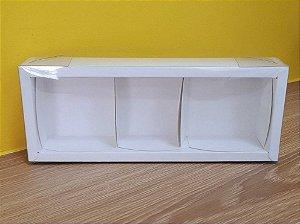 Caixa 3 Pães de mel Branca - 6,2x19x4cm - 05 unidades - Assk - Rizzo Embalagens
