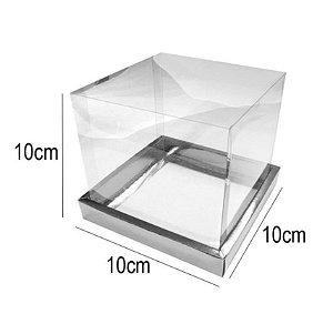 Caixa para Panetone 100g - 10x10x10cm Prata - 10 unidades - Assk - Rizzo Embalagens