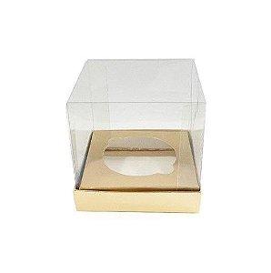 Caixa Mini Bolo P 5x5x5cm Dourada - 10 unidades - Assk - Rizzo Embalagens