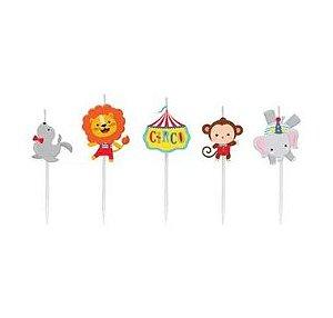 Vela 2D Kit c/ 5 unidades Festa Circo - Cromus - Rizzo Festas