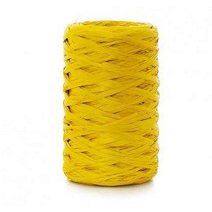 Fio de Ráfia Amarelo Canario - 50 metros - Rizzo
